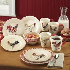 Vintage Mikasa Fine China Accent King Ou0027 Roost Rooster plates (x4) | Mikasa China and Vintage & Vintage Mikasa Fine China Accent King Ou0027 Roost Rooster plates (x4 ...