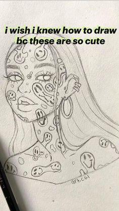 Indie Drawings, Art Drawings Sketches Simple, Pencil Art Drawings, Sketches To Draw, Pencil Sketch Art, Crazy Drawings, Really Cool Drawings, Sketches Of Love, Aesthetic Drawings