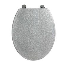 Shop for Croydex Toilet Seat Silver Sparkle at wilko - where we offer a range of home and leisure goods at great prices. Bathroom Baskets, Downstairs Toilet, Home Decor Mirrors, Flat Ideas, Bathroom Collections, Splish Splash, Bathroom Accessories, Flask, Keep It Cleaner