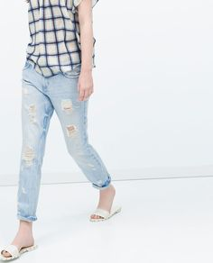 ZARA - NEW THIS WEEK - SPECIAL BLEACH CIGARETTE JEANS