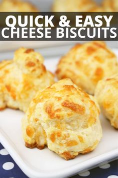 Easy, Delicious and Filling these tasty cheese biscuits are a crowd pleaser and make a delicious snack! Easy Cheese Biscuits Recipe, Homemade Biscuits Recipe, Savoury Biscuits, Homemade Cheese, Cheese Recipes, Easy Biscuit Recipes, Homemade Breads, Savory Snacks, Yummy Snacks