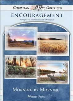 Morning By Morning, Box of 12 Assorted Encouragement Cards $4.99