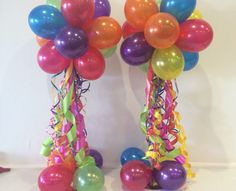 Balloon Decorations Without Helium   Air Filled Balloons Are Great For  Indoor And Especially Outdoor
