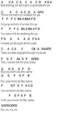 Flute Sheet Music: Grenade