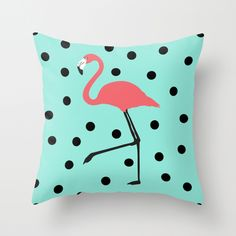 Flamingo Fever Throw Pillow