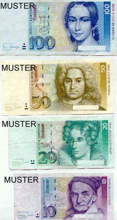 German money before the Euro took over. Brings back memories... Die gute Deutsche Mark