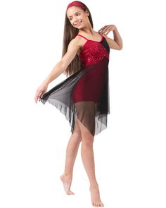 Beautiful Day Red Lyrical Dance Costume---wowza that's pretty!  I would like that for In Better Hands by Natalie Grant.