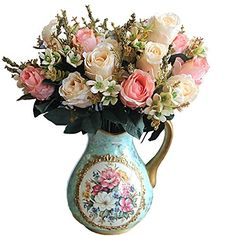 Beautiful Charming Delightful Palace Earl Rose Multi Color Artificial Flowers Artificial Flowers Wedding Home Decoration