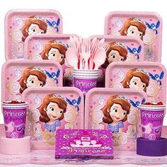 Disney Brave Merida Party Supply Bundle for 8 Guests 7 items : Dinner and Dessert Plates Lunch and Beverage Napkins Utensils /& Tablecover Cups 97 pcs