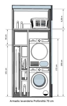 Modern Laundry Rooms, Laundry Room Layouts, Laundry Room Remodel, Laundry Room Organization, Laundry In Bathroom, Laundry Storage, Laundry Room Small, Ironing Board Storage, Small Bathroom Plans