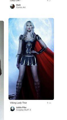 Lady Thor- a cute thor female cosplay Thor Cosplay, Thor Costume, Best Cosplay, Cosplay Girls, Cosplay Costumes, Female Cosplay, Halloween Cosplay, Halloween Costumes, Fancy Dress
