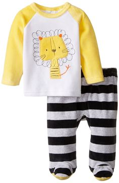 Amazon.com: ABSORBA Baby-Boys Newborn Lion Velour Footed Pant Set: Clothing