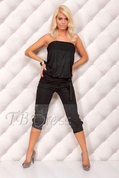 Fabulous Black Cotton Corset and Short Pant Clubwear Suits XY4005 : Tbdress.com