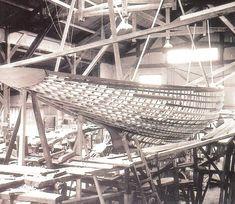 """""""Gilliatt IV"""", designed by Eugène Cornu, first 5.50m JI built, 1952."""