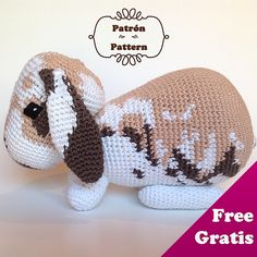 "Kurt the Rabbit - Free Amigurumi Pattern (English and Spanish pattern) - PDF File - Click ""download"" or ""free Ravelry download"" here: http://www.ravelry.com/patterns/library/conejo-kurt---kurt-rabbit#"