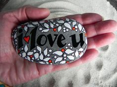 I Love You... (Pure & Simple) Sea Stone from Cape Cod