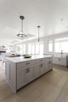 New-Development Inside Design Concepts - House Bunch Inside Design Concepts Kitchen Cabinet Design, Kitchen Redo, Home Decor Kitchen, Interior Design Kitchen, Kitchen Remodel, Kitchen Cabinets, Interior Modern, Interior Paint, Light Grey Kitchens