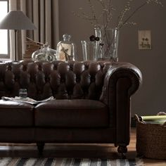 Canapé Chesterfield Archibald, cuir, Am.Pm