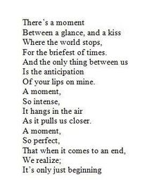 There's a moment ...