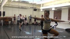 Joffrey Ballet School Jazz Class Across The Floor Exercises - Ashani Mfuko's Jazz dance class