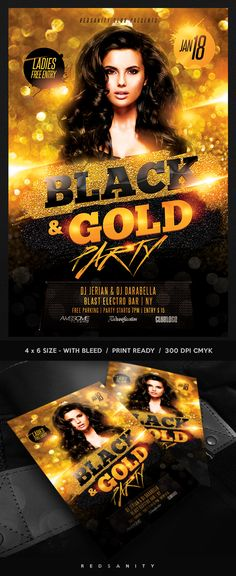 Club Party Flyer Template #Photoshop #Design #Flyer #Template
