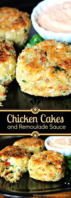 Chicken Cakes And Remoulade Sauce