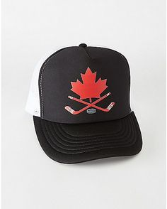 Hockey Stick Canada Trucker Hat - Spencer s 2b0661298b95