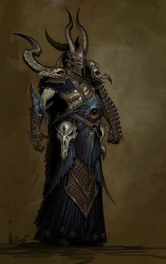 Warhammer online chaos sorcerer concept art.  Inspiration for the Priests of the Black Gods
