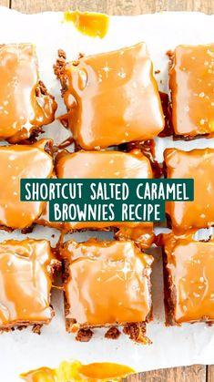 Salted Caramel Brownies, Caramel Treats, Fudgy Brownies, Fun Desserts, Delicious Desserts, Dessert Recipes, Yummy Food, Eat Dessert First, Dessert Bars