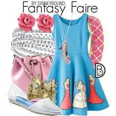 Fantasy Faire by leslieakay on Polyvore featuring Jeffrey Campbell, Michael Kors, MARC BY MARC JACOBS, 1928, Fornash and Disney Couture