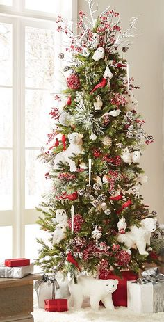 97 Best Christmas Tree With Red White Silver And Neutral Ornaments