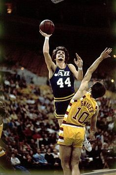 Pete Maravich for the Utah Jazz