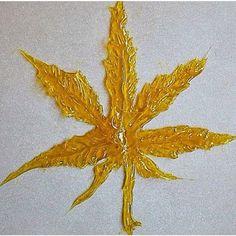 Shatter into a Marijuana leaf.