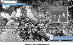 Hoy en la Historia de Guatemala 5 de abril de 1904: Estrada Cabrera informa a Asamblea del contrato para terminar Ferrocarril del Norte United Fruit Company, Informa, The Unit, Movie Posters, Movies, Guatemala City, Norte, Films, Film Poster