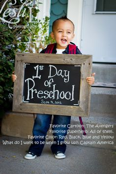 Preschool / First Day of School  I love this little guy! #leslilephotography