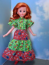 "ITALOCREMONA 15"" CORINNE GORGEOUS RED HEAD ORIGINAL CLOTHES 1960'S MOD NR!"