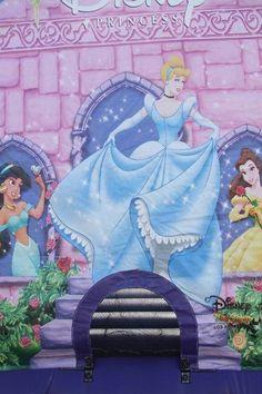Front of Disney Princess Bouncy Castle  #bouncy #castles #Disney #princess #inflatables #kids #toys
