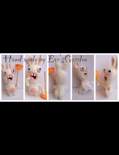 Raving Rabbids needle felting
