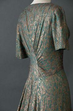 1930's Gold Lamé Evening Dress & Jacket | eBay