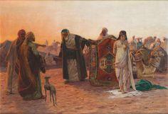 Otto Pilny (1866-1936), Marché aux esclaves, 1923, huile sur toile, 110,5 x 161,5 cm. Adjugé : 16 640 € Lundi 22 mai, salle 5-6 - Drouot-Richelieu.  Gros & Delettrez OVV. Cabinet Chanoit.