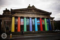 Rainbow Columns in Edinburgh by alexanderkohn.deviantart.com on @deviantART