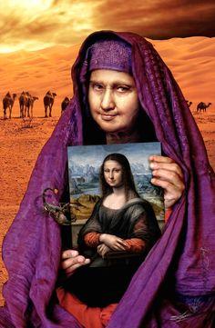 Gioconda in the Arab winter / visual metaphor