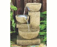 Design Toscano Villa Fortino Resin Cascading Garden Tiered Fountain with LED Light-The impressive Villa Fortino cascading three bowl garden fountain is sure to be the crowning statement in your garden or on your patio. Tabletop Water Fountain, Indoor Water Fountains, Garden Fountains, Outdoor Fountains, Small Fountains, Patio Fountain, Stone Fountains, Indoor Fountain, Garden Art