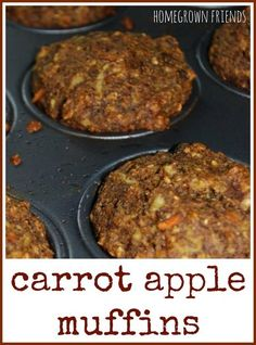 delicious, healthy carrot apple muffins from Homegrown Friends