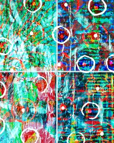 Abstract 8 x 10 Orange Blue Green Circles Squares Drips Pastel Pink Picture Wall Photograph Photo Colorful Vibrant Fun Print Tammy O'Brien by Concepts2Canvas on Etsy