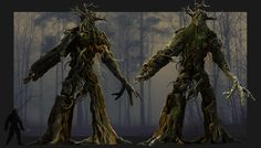 Another Zbrush Concept of Boss Character for Azulgar - Lesovik. Tree Monster, Zbrush, Character Design, Concept, War, Deviantart, Songs, Painting, Painting Art