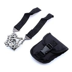 Survival Pocket Chain Saw With Pouch Survival Chain Saw Pocket Gear w Pouch Hand ChainSaw Emergency Camping Kit Tool for Camping HikingHunting and Outdoor Sports *** You can get additional details at the image link.(This is an Amazon affiliate link and I receive a commission for the sales)
