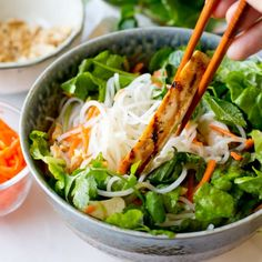 Vietnamese Chicken Vermicelli Salad; a great way to freshen up your diet this March.