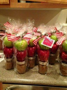 Caramel sauce with apples gift idea