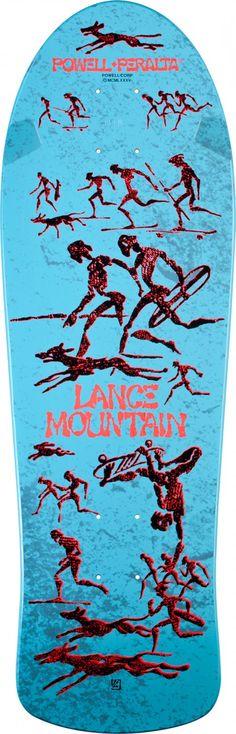Bones Brigade® Lance Mountain Future Primitive Reissue Deck Light Blue - 10 x 30.75